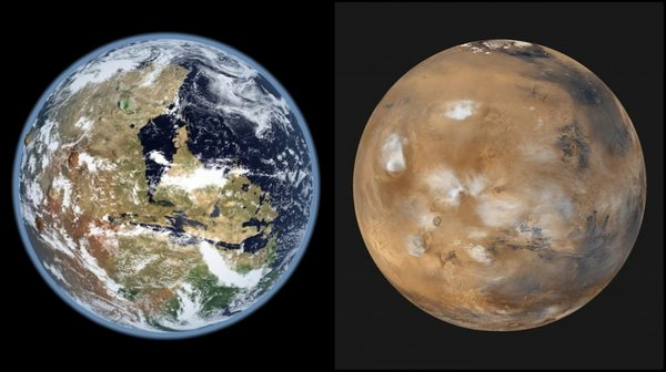 كان للعلماء القدرة على قياس معدل فقدان المياه على سطح المريخ وذلك من خلال قياس نسبة المياه وأكسيد الهيدروجين والديترويم HDO الآن ومنذ 4.3 مليار سنة مضت.
