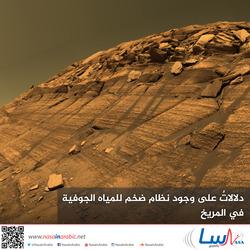 دلالاتٌ على وجود نظام ضخم للمياه الجوفية في المريخ