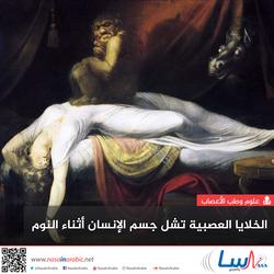 الخلايا العصبية تشل جسم الإنسان أثناء النوم