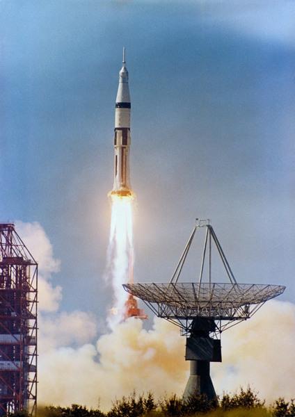 انطلاق صاروخSaturn IB11 يوم 11 تشرين الأول/أكتوبر من عام 1968  حقوق الصورة: NASA