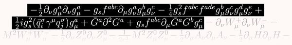 تُمثل هذه الخطوط الثلاث في النموذج القياسي تحديداً فائق الدقة للغلوون (gluon)