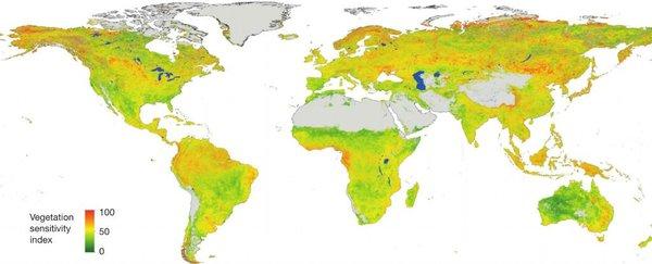 خريطة الأماكن الأكثر عرضة للتغير المناخي