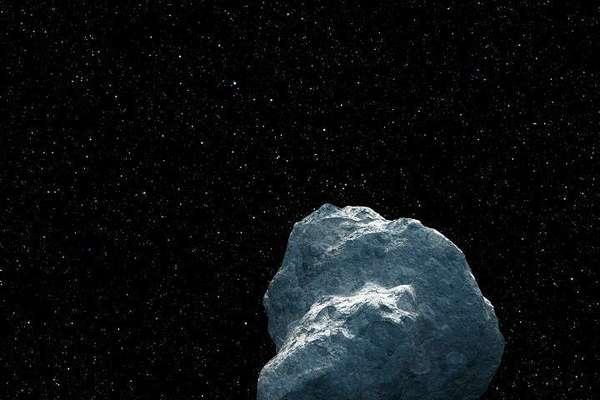 """هذا تصور فني لقطعة كثيرة التضاريس من حطام النظام الشمسي والتي تخص فئة من الأجرام تُدعى """"الأجرام القابعة خلف نبتون"""" (trans-Neptunian objects) أو اختصارًا TNOs. حقوق الصورة: NASA"""