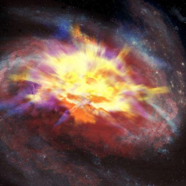 صورة توضيحية لنفس النظام كما يُرى بالاشعة تحت الحمراء. (حقوق الصورة: International Gemini Observatory/NOIRLab/NSF/AURA/P. Marenfeld)