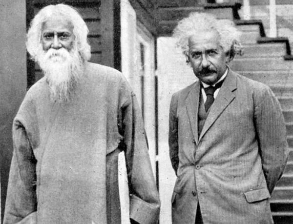 أينشتاين وطاغور