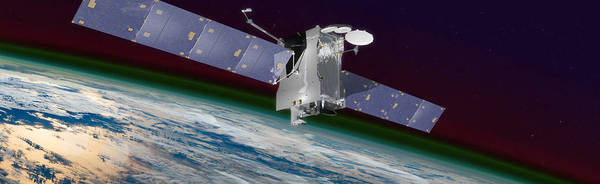تُظهر الصورة القمر الاصطناعي للاتصالات التجارية (SES-14) الذي سيحمل أداة GOLD التابع لوكالة ناسا الفضائية. المصدر: NASA Goddard's Conceptual Image Lab/Chris Meaney
