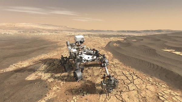 شكل ترسيمي لعربة ناسا المريخية الجوالة 2020 (حقوق الصورة: NASA)