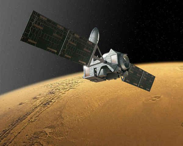 المسبار المتتبع المداري (TGO) لإكسومارس 2016 هو الأول من سلسلة مهمات المربخ المشتركة بين وكالة الفضاء الأوروبية والروسية. حقوق الصورة: ESA.