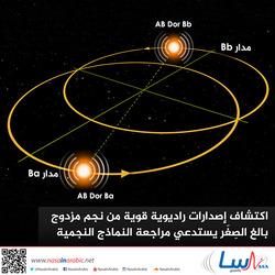 اكتشاف إصدارات راديوية قوية من نجم مزدوج بالغ الصِغَر يستدعي مراجعة النماذج النجمية