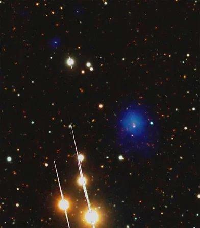 حقوق الصورة ESA XMM-Newton/EPIC, LBT/LBC, AIP (J. Kohnert)