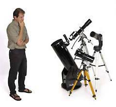 أي واحد من هذه المناظير تفضل اقتناءها، الصغيرة منها أم الكبيرة أم الضخمة؟   المصدر: Sky & Telescope / Craig Michael Utter