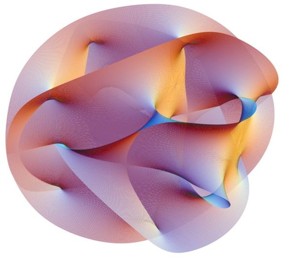 لوحة من الأكريليك بحجم 16×26 إنش تمثل الزمن تعود لعام 2009، وقد تميزت هذه اللوحة بكونها خارجة عن نمط أعمال بيلبرونو السابقة، وبدت وكأنها لا تنتمي للمكان، ولذلك وُضعت جانباً. بعد ذلك في عام 2014 لاحظ أحد أصدقائه هذه اللوحة التي تمثل مقياسين زمنيين مختلفين، ما يعد ذو صلة غريبة مع بحث بيلبرونو الحالي في علم الكون.