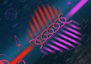 تصور فنان لمشط التردد الكمي