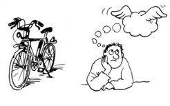 """تسهّل الصورة من التعلم؛ يتذكر دماغنا الكلمات """"دراجة هوائية""""، و""""تفكير"""" في لغةٍ أجنبيةٍ بشكلٍ أسهل إذا ما كان يقابل كل كلمة صور تشير إليها.  حقوق الصورة: MPI f. Human Cognitive and Brain Sciences/ v. Kriegstein"""