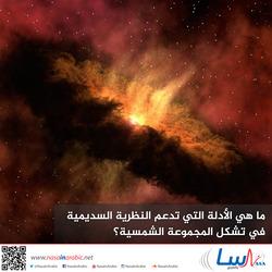 ما هي الأدلة التي تدعم النظرية السديمية في تشكل المجموعة الشمسية؟