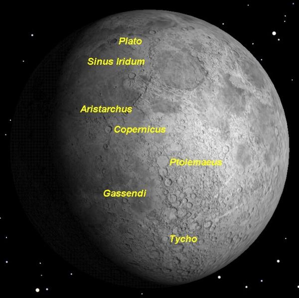 أفضل وقت لرصد القمر هذا الشهر خلال الليالي القليلة المقبلة. حقوق الصورة:Starry Night Software