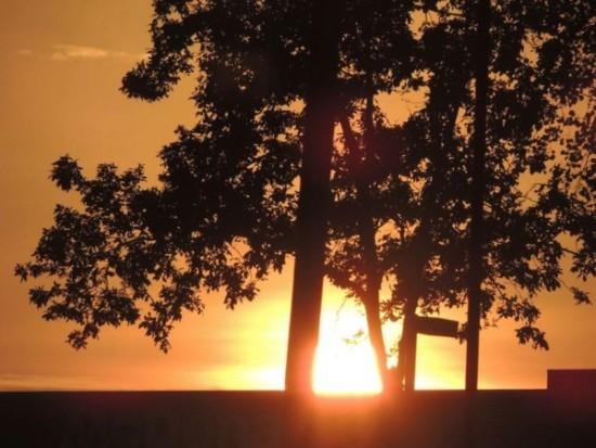 أول شروق للشمس في خريف عام 2013، التقطته صديقة EarthSky Facebook ماري كوكس Mary C. Cox من نورث كارولينا.