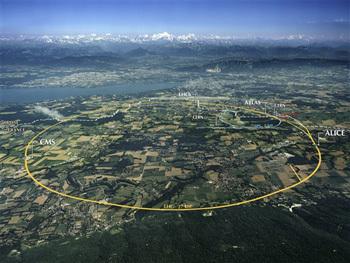 صورة تظهر سيرن من الأعلى. المصدر: 2008 CERN.