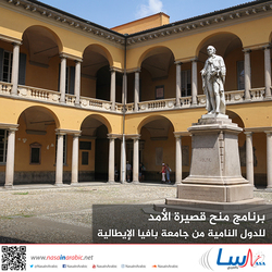 برنامج منح قصيرة الأمد للدول النامية من جامعة بافيا الإيطالية