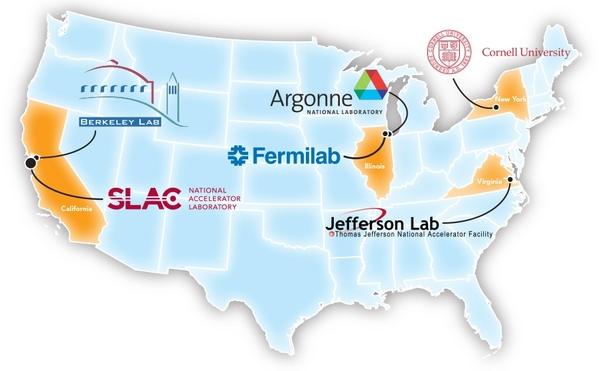 من أجل تنفيذ مشروع مصدر الضوء المترابط للمسرع الخطي الثاني، تعاون مختبر SLAC مع أربعة مختبرات وطنية أخرى هي: أرغون، ومختبر بيركيلي، وفيرميلاب، ومختبر جيفيرسون – وجامعة كورنيل، حيث يقدم كل شريك منها مساهمات رئيسية فيما يتعلق بالتخطيط للمشروع، وتصميم المكونات والاستحواذ والبناء.  المصدر: (مختبر المسرع الوطني SLAC).