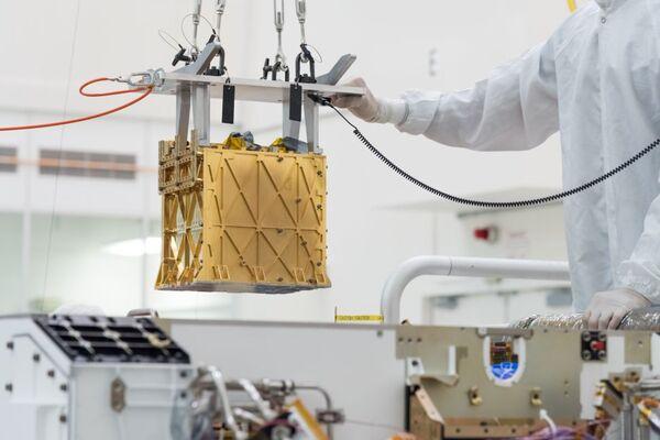 قام المهندسون بتركيب أداة موكسي على متن مركبة بيرسيفيرانس الجوالة في مارس 2019. حقوق الصورة: NASA/JPL-Caltech