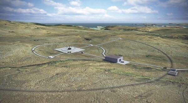 رسم توضيحي لميناء الفضاء في ساذرلاند، أسكتلندا، والذي سيستخدمُ لإطلاق الصواريخ بشكل قائم. حقوق الصورة: Perfect Circle PV.