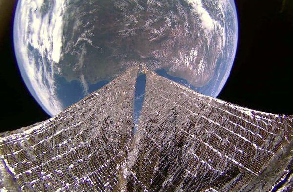 صورة للساحل الشمالي الشرقي لأمريكا الجنوبية بعدسة لايت سايل2 في 11/1/2020. حقوق الصورة: The Planetary Society