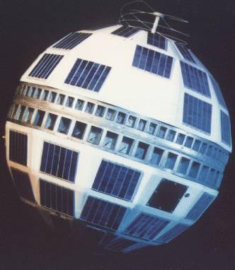 القمر الصناعي تيلستار 1 الخاص بالبث التلفزيوني. المصدر: ناسا