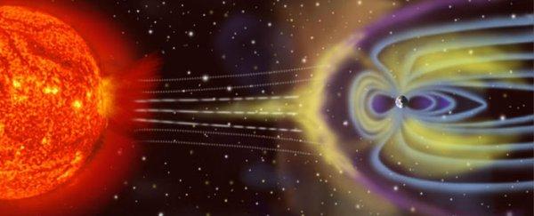 رسم توضيحي للغلاف المغناطيسي للأرض حقوق الصورة: NASA