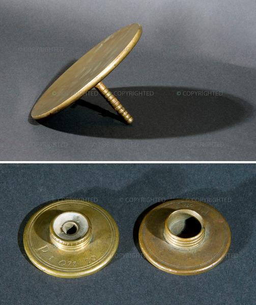 جوسيبي كامباني (1635-1715) أشكال معدنية لمقاريب ومجاهر، القرن السابع عشر بولونيا، متحف دي فيشيا، جامعة بولونيا، العناصر 593، 594، 595، و596 / 1956