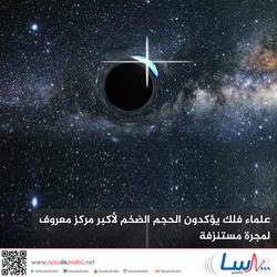 علماء فلك يؤكدون الحجم الضخم لأكبر مركز معروف لمجرة مستنزفة