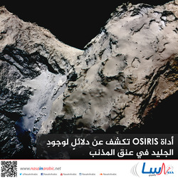 أداة  OSIRIS تكشف عن دلائلٍ لوجودِ الجليد في عنق المذنب