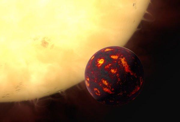 تصور فني لـ e 55 Cancri