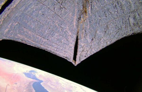 صورة تظهر خليج عُمان والخليج العربي ملتقطة بواسطة لايت سايل2 في 14/12/2020.حقوق الصورة: The Planetary Society