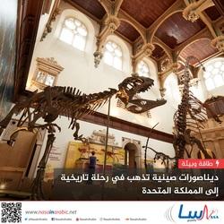 ديناصورات صينية تذهب في رحلة تاريخية إلى المملكة المتحدة