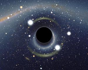 من الممكن فهم الثقوب السوداء باستخدام المعلومات. (محاكاة بصرية لثقب أسود بواسطة آلين ريزويلو Alain Riazuelo.)