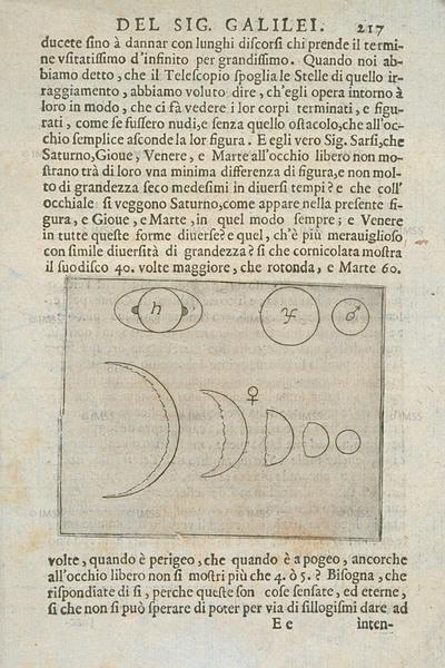 غاليليو غاليلي (1564-1642) كتاب الفاحص Il Saggiatore، روما، 1623  المكتبة الوطنية المركزية، Magl. 3.2.406، صفحة 217