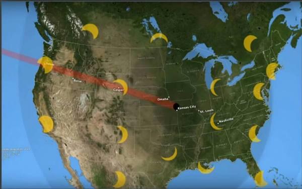 من مقطع فيديو جديد لتطبيق ناسا في الرصد (GLOBE)، إذ ستشهد الولايات المتحدة القارية وكندا والمكسيك كسوفاً كاملاً أو جزئياً في 21 آب/أغسطس من هذا العام. حقوق الصورة: NASA's Goddard Space Flight Center/Rich Melnick