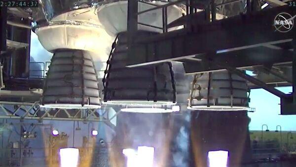 محركات RS-25 المُستخدمة في صاروخ SLS هي نفسها التي استُخدمت في المكوك الفضائي. حقوق الصورة: NASA
