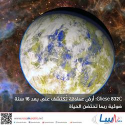 Gliese 832c: أرض عملاقة تُكتَشف على بعد 16 سنة ضوئية ربما تحتضن الحياة