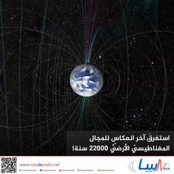 استغرقَ آخر انعكاس للمجال المغناطيسيِّ الأرضيِّ 22000 سنة!