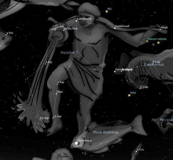 """الدلو أو """"حامل الماء"""" كوكبة كبيرة ولكنها خافتة في السماء الجنوبية حقوق الصورة: Stellariu"""