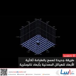 طريقة جديدة تسمح بالطباعة ثلاثية الأبعاد للهياكل المعدنية بأبعاد نانومترية