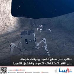 عناكب على سطح القمر... روبوتات متجولة على القمر لاستكشاف الكهوف والشقوق القمرية