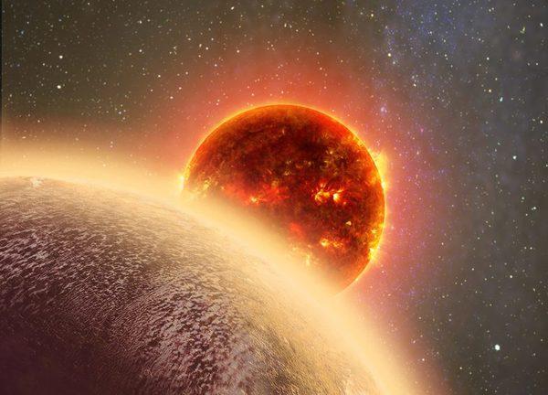 """صورةٌ فنية لكوكب GJ 1132b الخارجي """"الشبيه بكوكب الزهرة"""" حقوق الصورة:cfa.harvard.edu"""