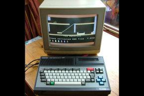 """جهاز MSX يعرض لعبة """"Jet Set Willy"""". حقوق الصورة: CREATIVE COMMONS/FLICKR USER QUAGMIREZ31"""