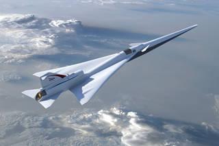 يمثل هذا الرسم التوضيحي طائرة ناسا ذات الانفجار الصوتي الضعيف. حقوق الصورة: ناسا/لوكهيد مارتن NASA/Lockheed Martin.