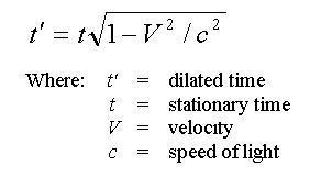 معادلة تباطؤ الزمن