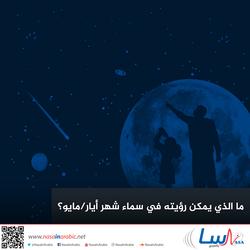 ما الذي يمكن رؤيته في سماء شهر أيار/مايو؟