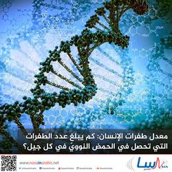 معدل طفرات الإنسان: كم يبلغ عدد الطفرات التي تحصل في الحمض النوويّ في كل جيل؟
